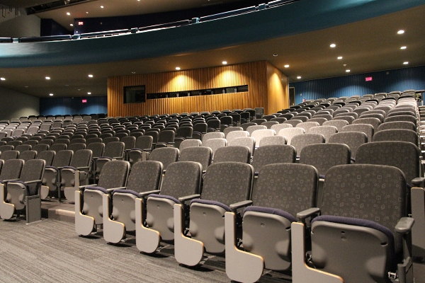 Duncan McArthur Auditorium following recent upgrades]