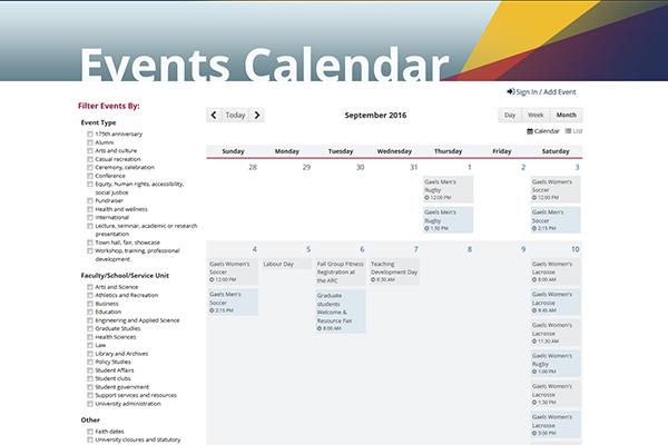 [Events Calendar]