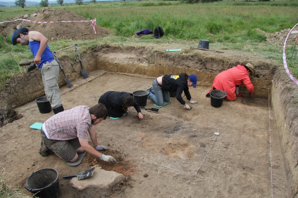 Excavation at the Herstmonceux Estate