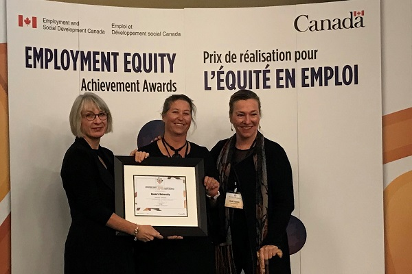 [Queen's University Heidi Penning Jill Christie Patty Hajdu Government of Canada Employment Equity Award]