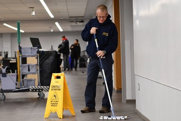Cleaning goes green on campus