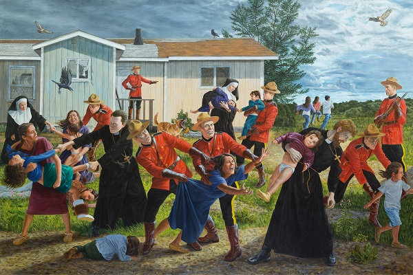 Kent Monkman, The Scream, 2017, acrylic on canvas. Collection of the Denver Art Museum, Native Arts acquisition fund.