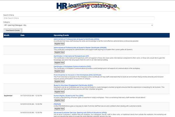 New HR Learning Catalogue has something for everyone