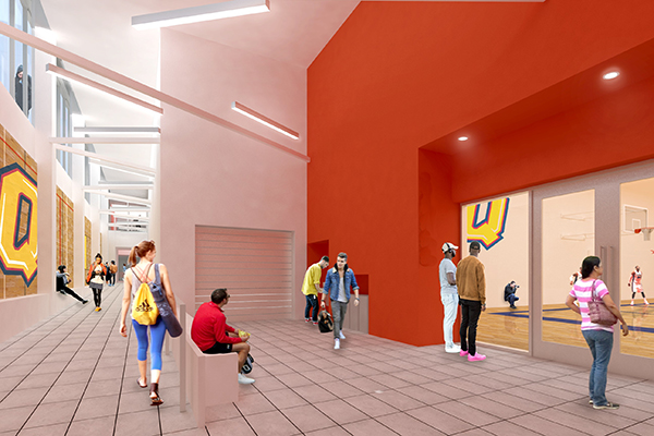 Expanded space for athletics and recreation