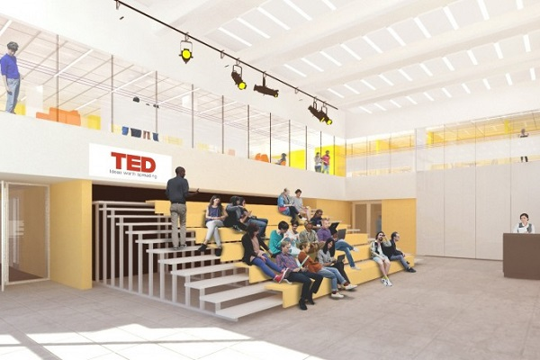 The Innovation Hub will feature an event space for programming and student-led conferences. (Rendering)