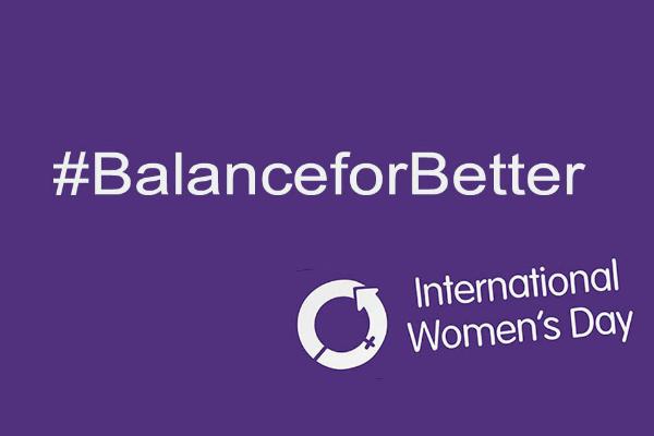 International Women's Day Logo and #BalanceForBetter Hashtag