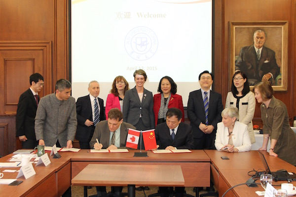 [Jilin and Queen's sign two plus two agreement]