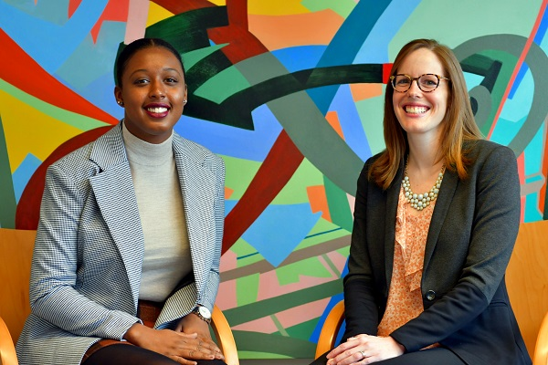 Lavie Williams (Artsci'14) and Dr. Erin Clow (PhD'14). (University Communications)