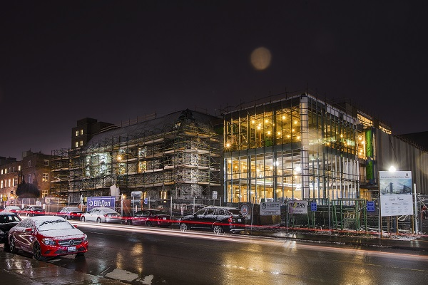 The Innovation and Wellness Centre at night. (Supplied Photo)