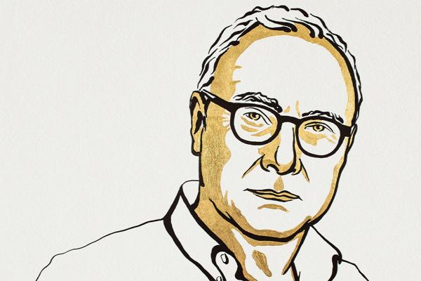 Nobel Drawing of David Card,  Niklas Elmehed © Nobel Prize Outreach 2021