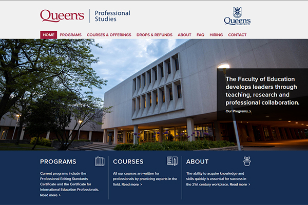 Professional Studies launches new website