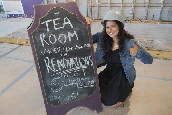 Tea Room receives gift for renovations
