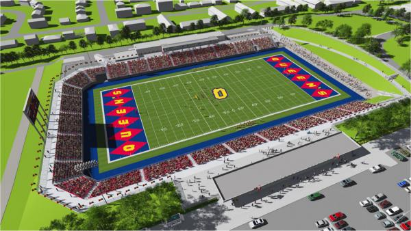[Early rendering of revitalized Richardson Stadium.]