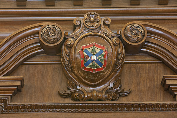[Richardson Hall - Queen's Coat of Arms]
