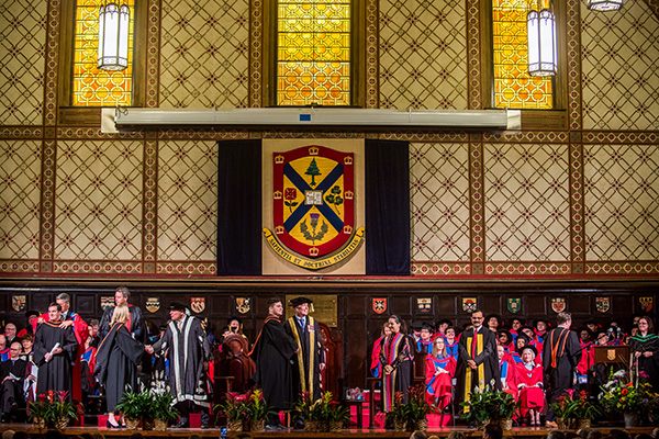 [Convocation ceremony at Grant Hall]