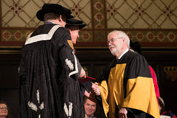 Eyes on the sky as Spring Convocation resumes