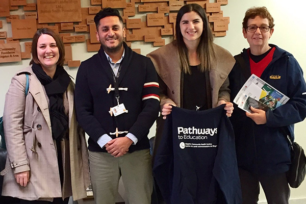 Pathways partnership connects Gaels with local students