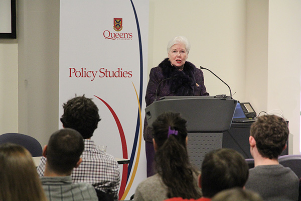 The Honourable Elizabeth Dowdeswell, the Lieutenant Governor of Ontario, delivered the Donald Gow Memorial Lecture to students, faculty, and staff.