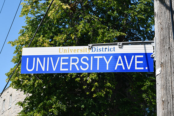 [University District street sign]