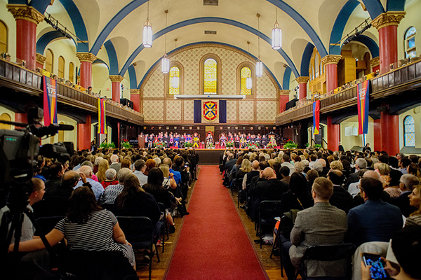 [Spring Convocation in Grant Hall]
