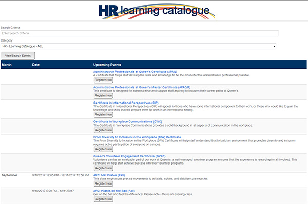 """New-look HR Learning Catalogue"""