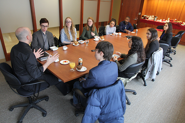 Schulich Leader Scholarship recipients meet with Provost Bacon