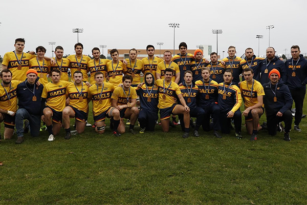 Gaels take silver at men's rugby nationals