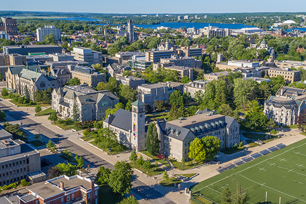 Queen's University Campus from above