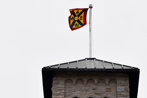 Chancellor Flag atop Grant Hall.
