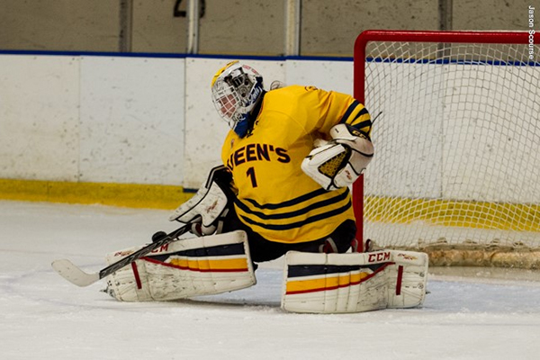 """Goalie Stephanie Pascal earned her third shutout of the season as the Queen's Gaels beat the UOIT Ridgebacks 2-0 on Saturday."""