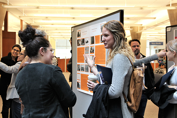 [Students present posters at USSRF]