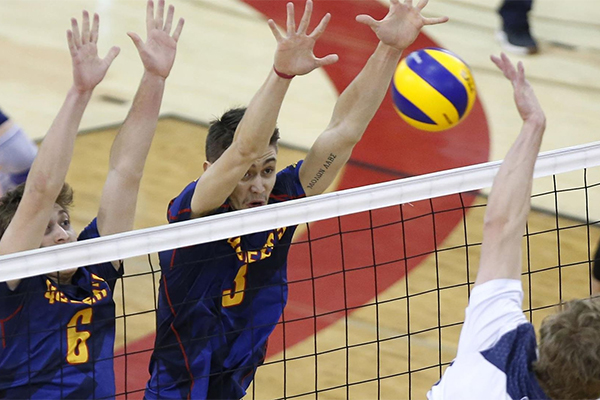 Men's volleyball team wins consolation final at nationals