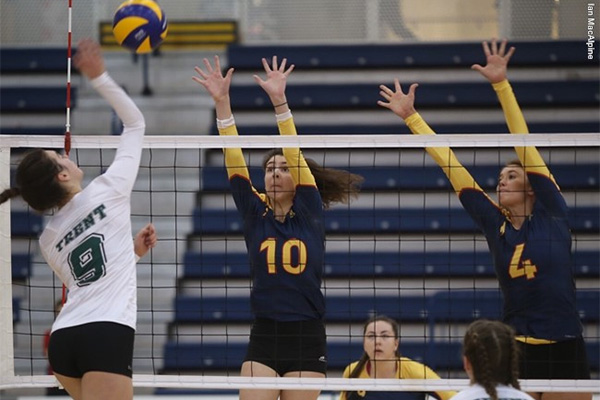 Queen's Gaels women's volleyball compete against Trent
