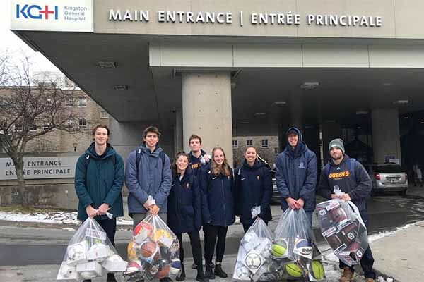 Varsity Leadership Council members visit hospital with donations