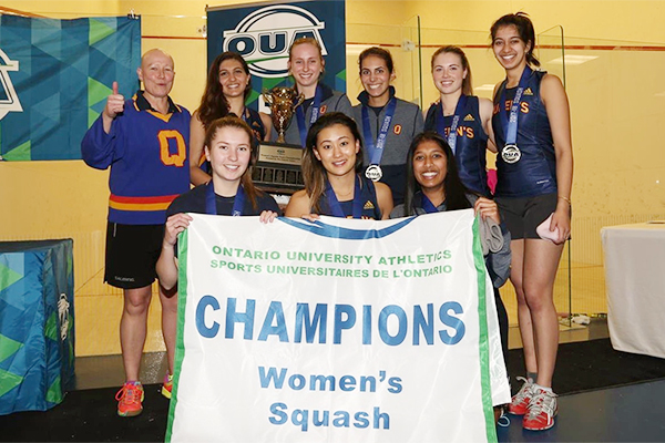 Women's squash team wins OUA title; men capture bronze