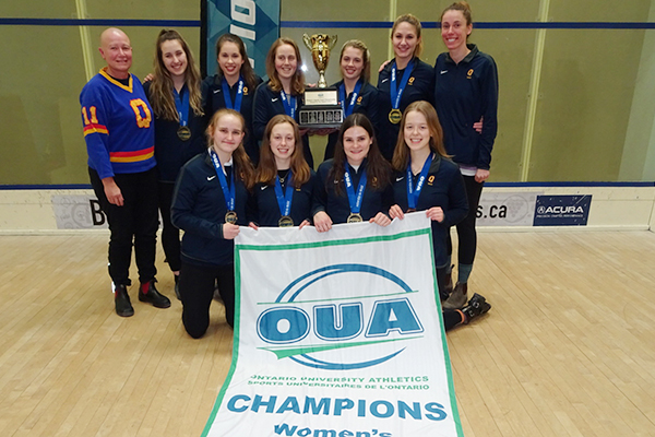 Women's squash team captures fifth straight OUA title