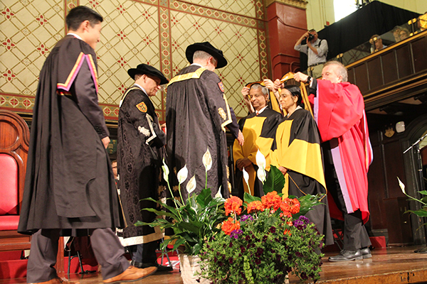 Honorary Degrees: Gururaj and Jaishree Deshpande