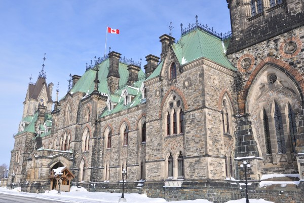 Photograph of Parliament building in Ottawa