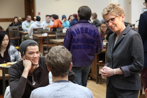 Premier Wynne meets with students at alma mater