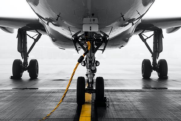 Plane landing gear (Pexels)