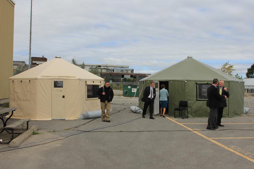 [Field hospital tents]