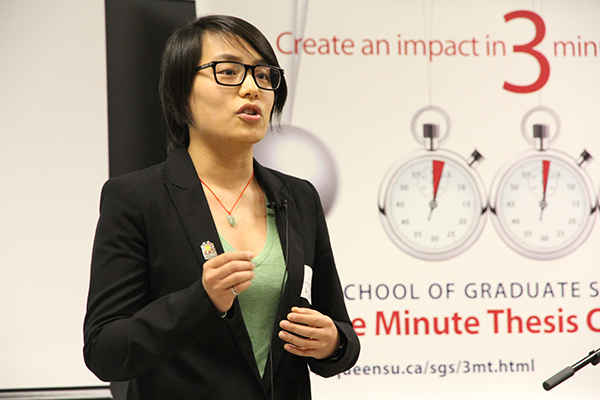 queens university three minute thesis Canada's three minute thesis (3mt) winners: clarity, savvy and making a difference queen's university recognized for work on student wellness.