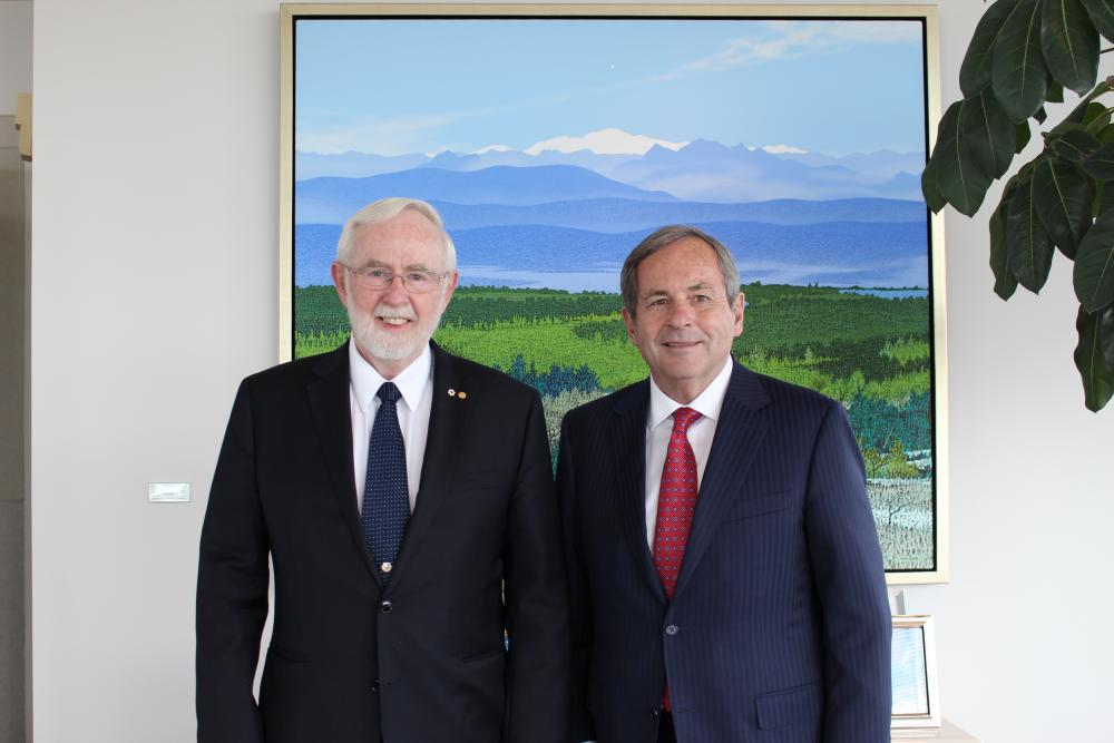 Dr. McDonald meets with David MacNaughton, Canada's Ambassador to the United States. (Photo Credit: Embassy of Canada)