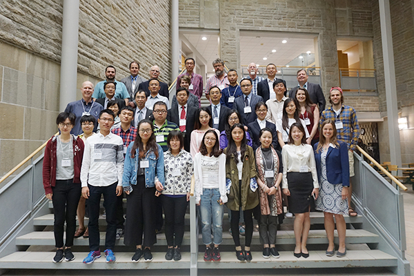 Participants in the 3rd Sino-Canada Workshop for Environmental Sustainability and Development, including a delegation of faculty and graduate students from Tongji University, gather for a group photo in the Biosciences Complex at Queen's. (Supplied Photo)