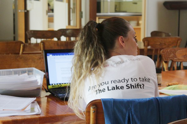 Over the five days of The Lake Shift, held at Queen's University Biological Station (QUBS), participants took part in workshops and had blocks of time dedicated to writing.