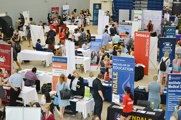 Thousands of students explore their career options at the Career Fair, the biggest career event hosted by Queen's University.(Photo by Candice Pinto)