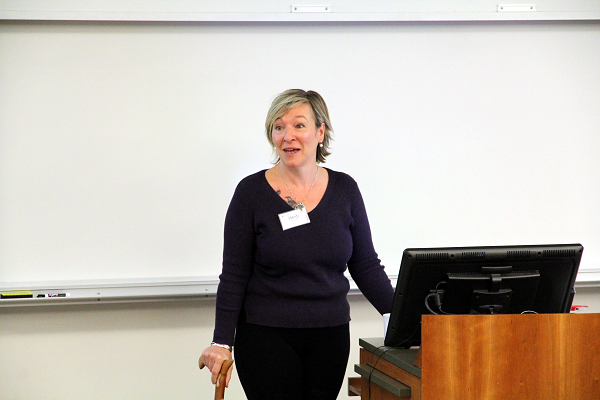 Heidi Penning of the Equity Office opened the day's agenda, and spoke about inclusive hiring at Queen's. (University Communications)
