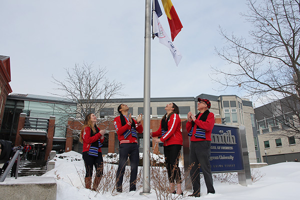Smith School of Business-Canadian Olympic Committee flag raised