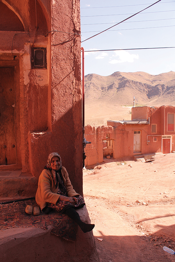 OVERALL WINNER – Ana Sofijanic, Master's in Civil Engineering – Shade over a Warm Heart. Taken in Abyaneh, Iran.