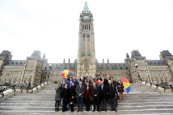 The delegation to the first Queen's on the Hill Day